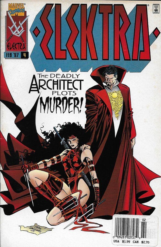 Marvel Elektra Comic Issue 4 Marvel Elektra Comics Comics Artwork