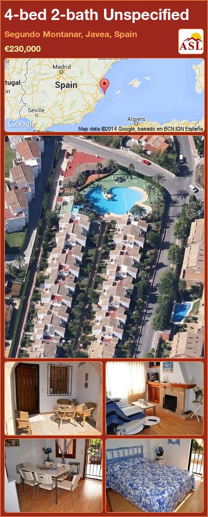 4-bed 2-bath Unspecified in Segundo Montanar, Javea, Spain ►€230,000 #PropertyForSaleInSpain