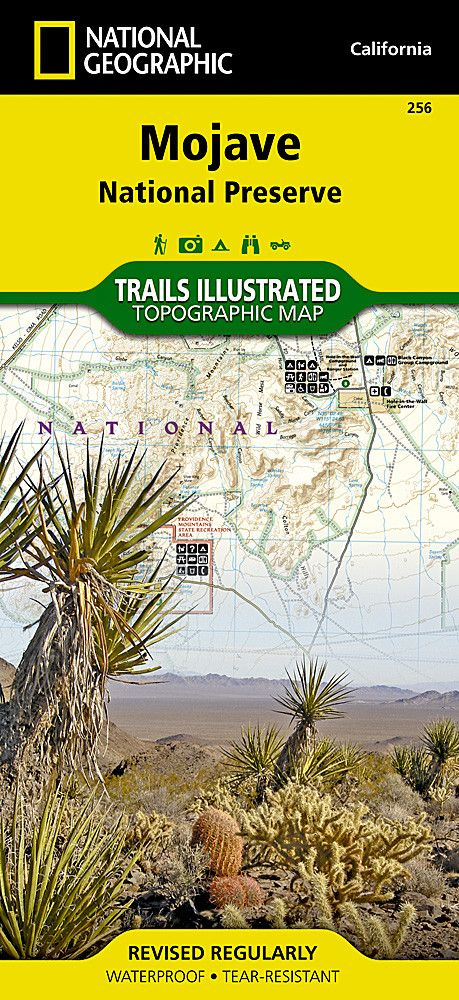 Mojave National Preserve, Map 256 by National Geographic Maps