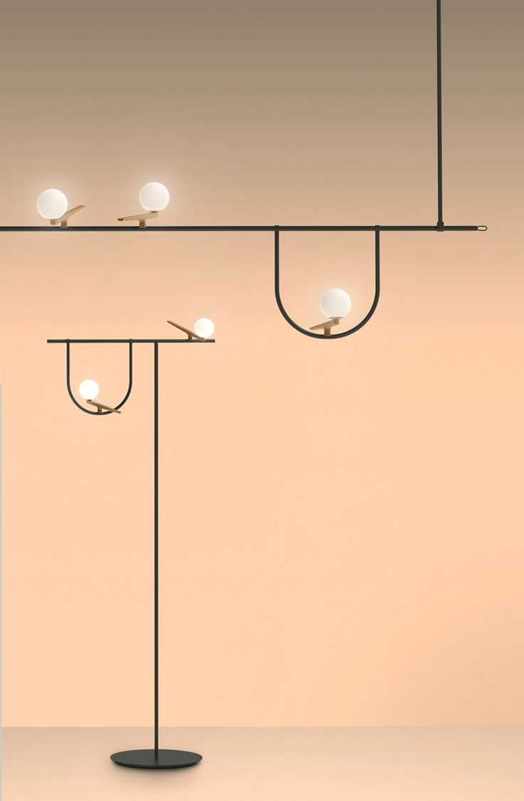 LED direct light brass floor lamp YANZI   Floor lamp by Artemide