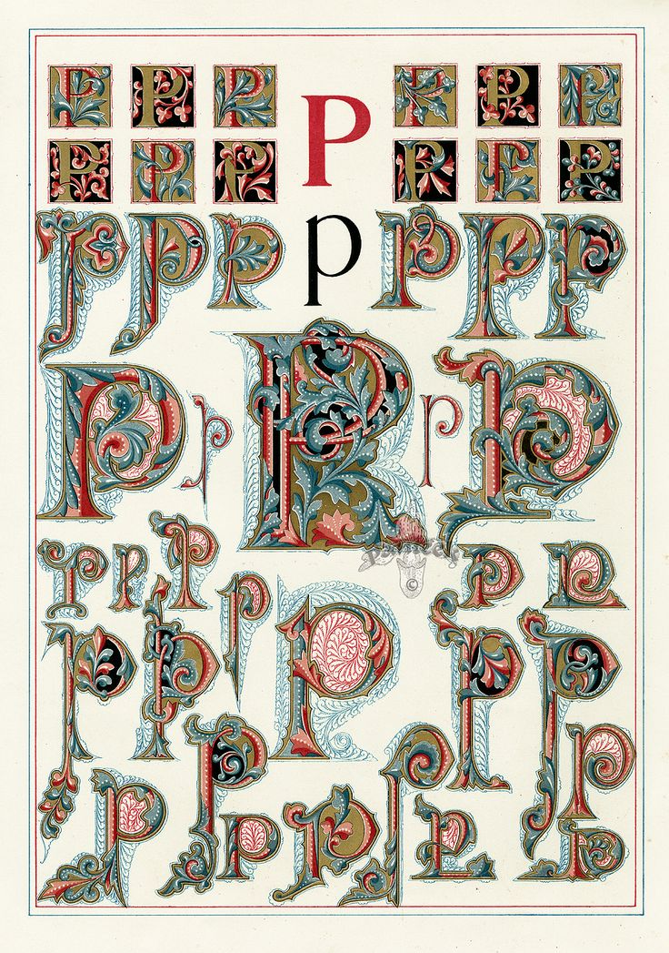 Owen Jones Alphabet 1864