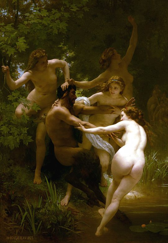 Nymphs and Satyr, 1873  William-Adolphe Bouguereau (1825–1905)