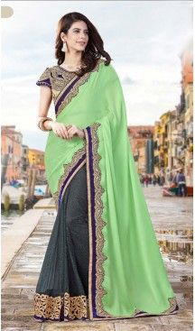 Mint Green Color Georgette Party Wear Saris Blouse | FH529980068 #traditional #ethnic #ootd #fashion #makeup #mua #hair #lehenga #saree #sari #jewellery #jewelry #asian #asia #wedding #weddingphotography #asianwedding #asianbride #bridal #bride #weddingbells, #love #fashion #india #wedding #floral #sari #desi #blouse #bollywood #weddings #couture #style #dress #editorial #designer #punjabisuit #makeup #sisters #satin #indianbride #beautiful #bride @heenastyle