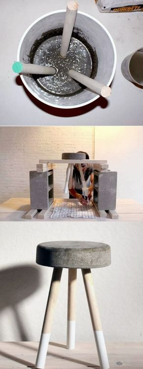 La Buhardilla - Decoración, Diseño y Muebles: D.I.Y. Un taburete de cemento