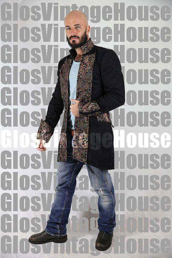Mens Cotton Jacket top Victorian vintage Steampunk Gothic dress