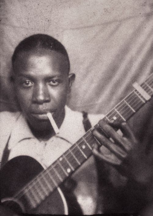 This will forever be my favorite picture of Robert Johnson. Such a hauntingly beautiful voice.