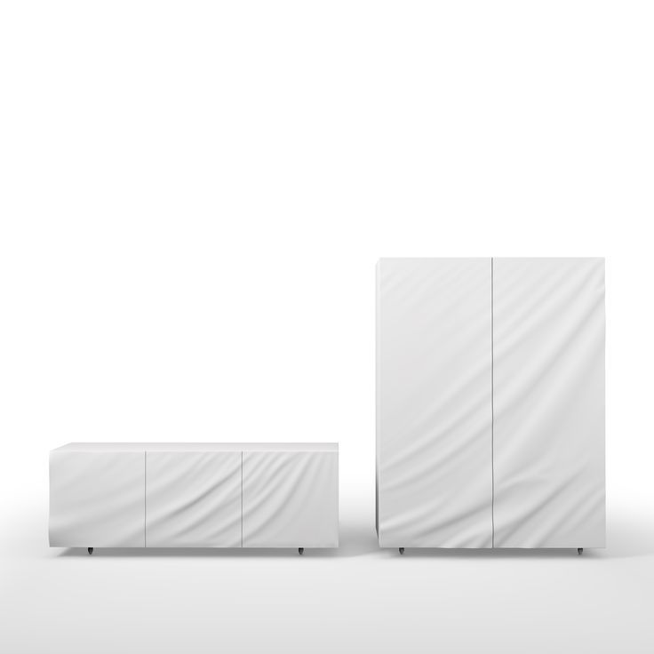 """Drapé"" by julien vidame - wardrobe - design - chestofdrawers - white"
