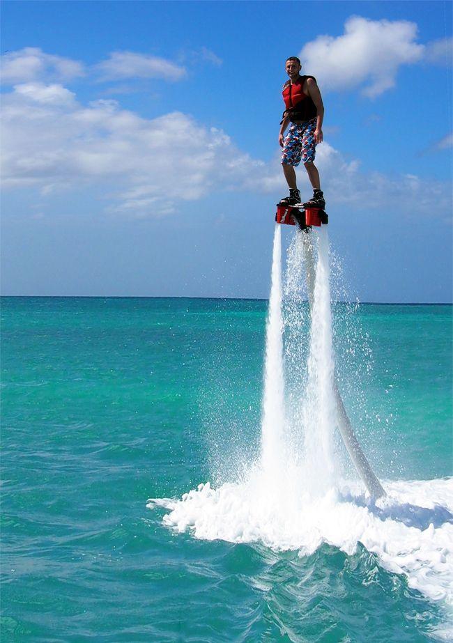 Flyboarding in Aruba #fun #vacation