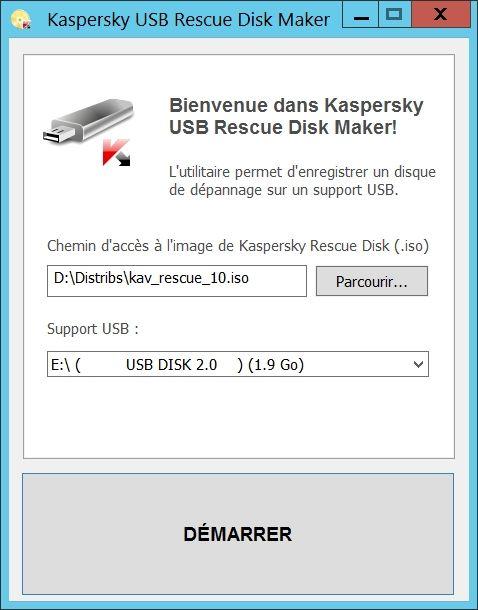 Kaspersky USB Rescue Disk Maker : un antivirus gratuit bootable sur clé USB