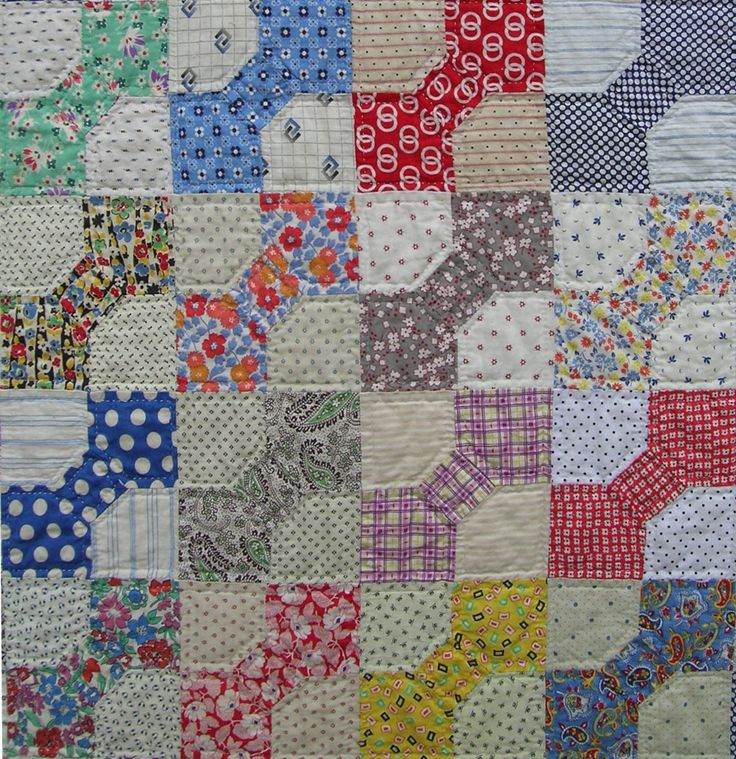 bow tie quilt...with different colors it would be a great pattern for a quilt for a man