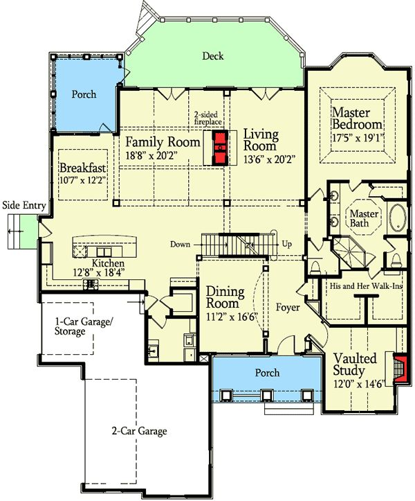 11528 best exteriors and floorplans images on pinterest for Wide open floor plans