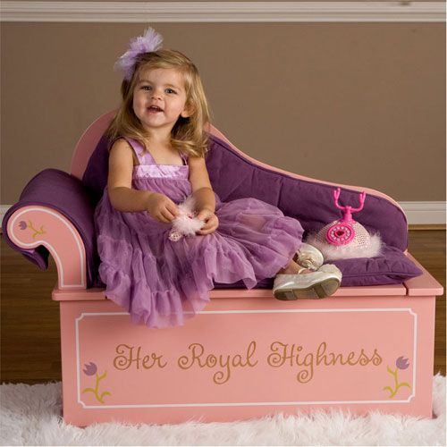 Always a Princess Fainting Couch with Storage ~ so cute!