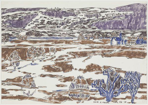 David Brown Milne Canadian, 1882–1953 Valley, Boston Corners, 1920 gouache on paper 38.8 x 54.5 cm