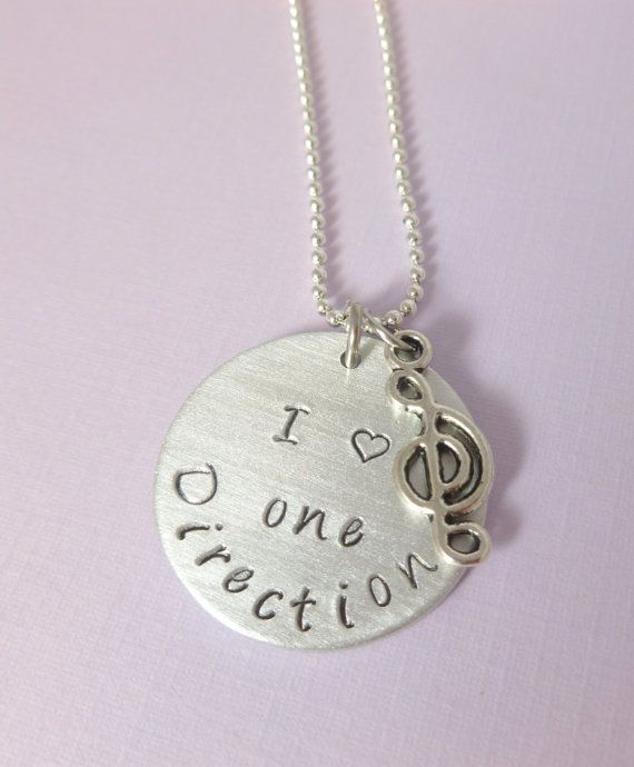 One direction necklace - Hand stamped necklace - One Direction-1D customized, engraved jewelry