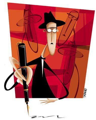 Fernando Pessoa  Premiada com o terceiro lugar em caricatura no XVII Salão Carioca de Humor.