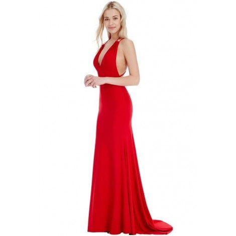 """Devenez une star américaine du cinéma avec cette robe digne d'un tapis rouge. Son tissu brillant de style """" disco """" vous illuminera toute la soirée."""