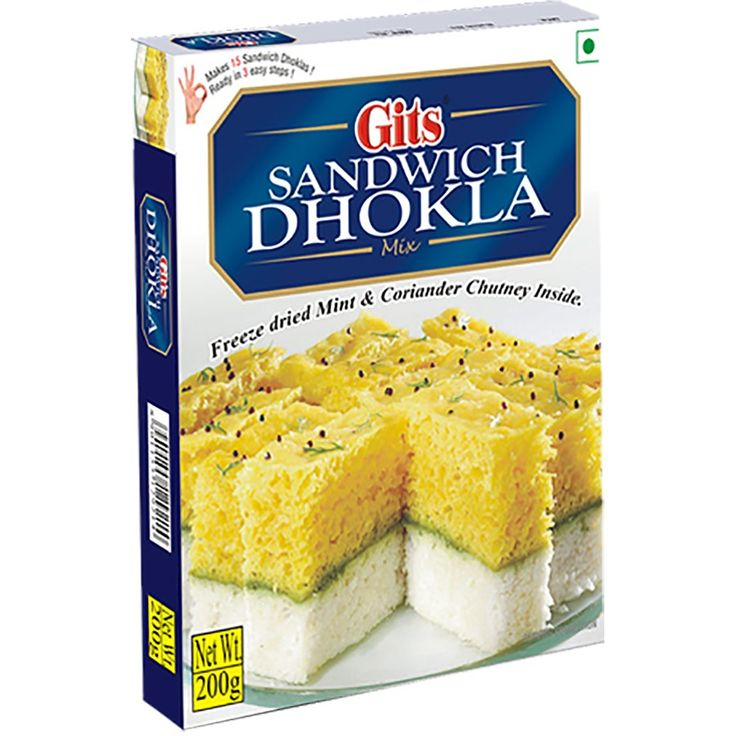 GITS DHOKLA SANDWICH 200G - It is superb recipe from Gujarat. It is combination of khatta dhokla, khaman dhokla and green chutney.