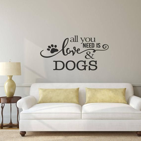 Dog Wall Decal Pet Gift Wall Decals Wall Stickers Wall Etsy