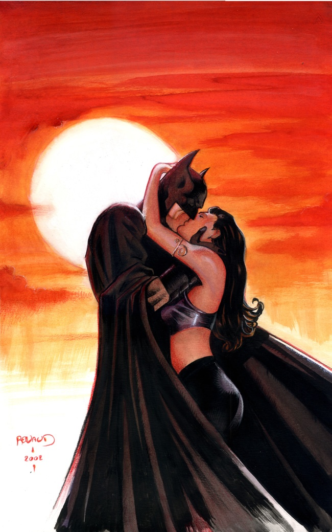 Batman and Talia al Ghul-  she's a villain who likes batman, Sounds like me!