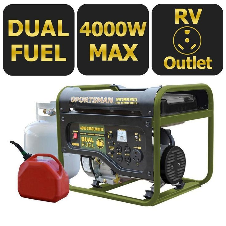 This Dual Fuel Powered Portable Generator is great for running the RV while out on the road or for keeping essential appliances going during a power outage, the Sportsman Series 3500/4,000-Watt Dual Fuel Generator has the power and flexibility to handle the task. This Dual Fuel Powered Portable Generator runs on either unleaded gasoline or propane gas, so you can use whichever fuel is more easily available or affordable at the moment. With this Dual Fuel Powered Portable Generator, you get…