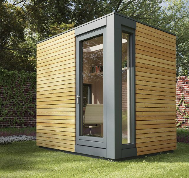 64 best pods and out buildings images on pinterest for Outside office shed