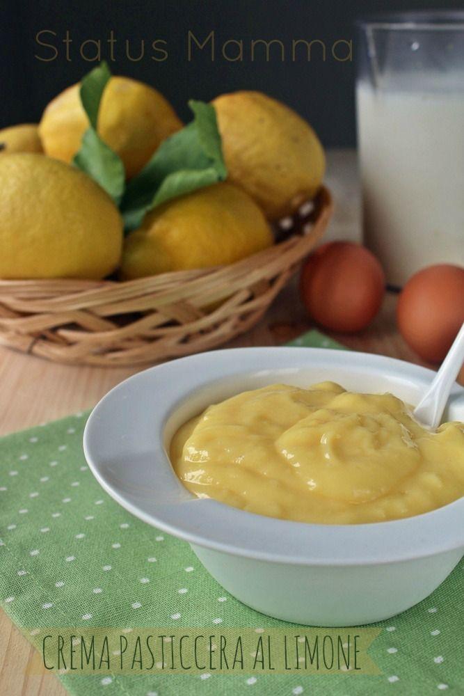 Crema Pasticcera al Limone ricetta dolce base cucinare semplice veloce economico frutta e verdura Statusmamma blogGz Giallozafferano foto tutorial