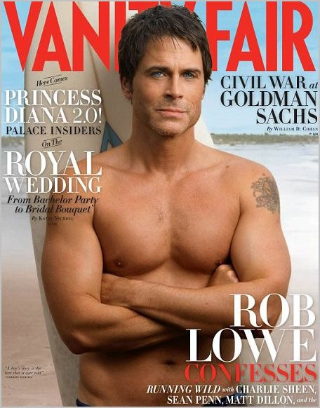 Rob Lowe.  He is about the only guy I can stand to see with his shirt off.  I didn't care for him too much in the 80's because I thought him too cute/perfect looking. He is the example of a man who improves with age and off script seems to have common sense.