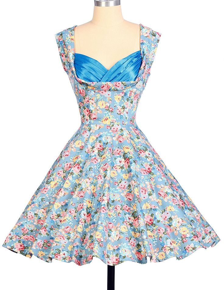 97b5f413bd566 Grace Karin Women s Vintage 1950 s Floral Cut Out Casual Party Dresses at  Amazon Women s Clothing store