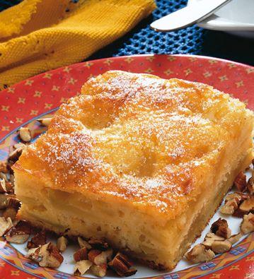 Tarta de manzana #receta #facil / 3 Manzanas verdes . 3/4 tazas de azúcar . 1/2 taza de harina . 1/2 taza de manteca . 1/2 cucharadita de sal . 1 cucharadita Polvo Royal para Hornear . Canela en polvo