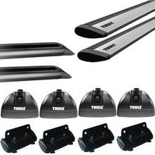 Thule Rapid Podium SILVER AeroBlade Roof Rack w/ Tracks for Camper Shell Applications