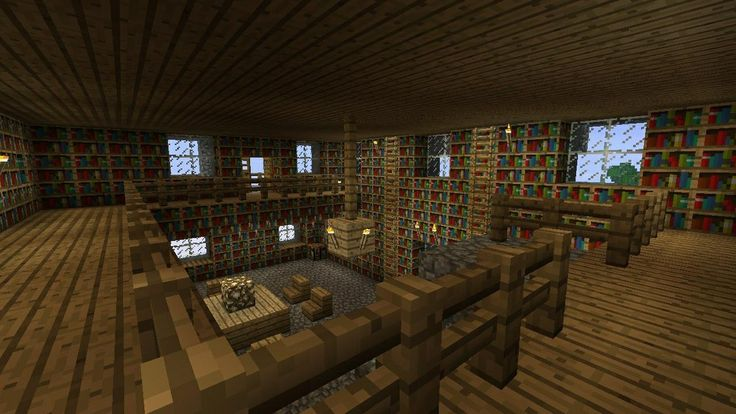 Minecraft Interior Design Library I Like The Different Levels