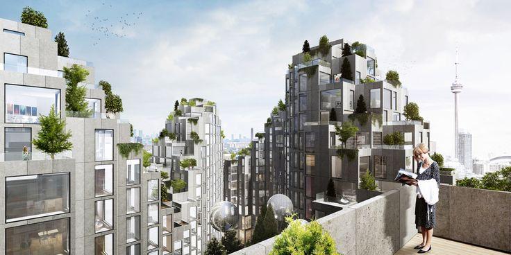 Gallery of BIG Designs Moshe Safdie-Inspired Habitat for Toronto - 1