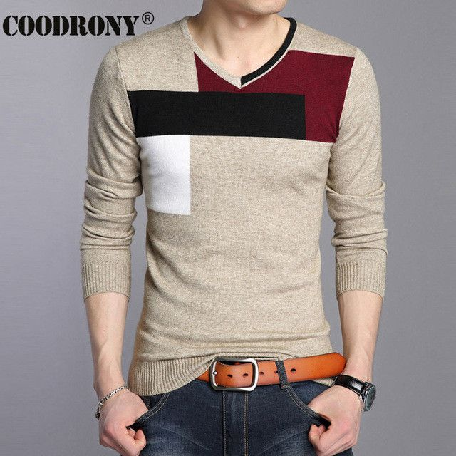 High Quality Autumn Winter Soft Warm Knitted Cashmere Sweater Men Christmas Sweaters Casual V-Neck Pullover Men Pull Homme 66204