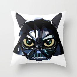 DarthCat Throw Pillow