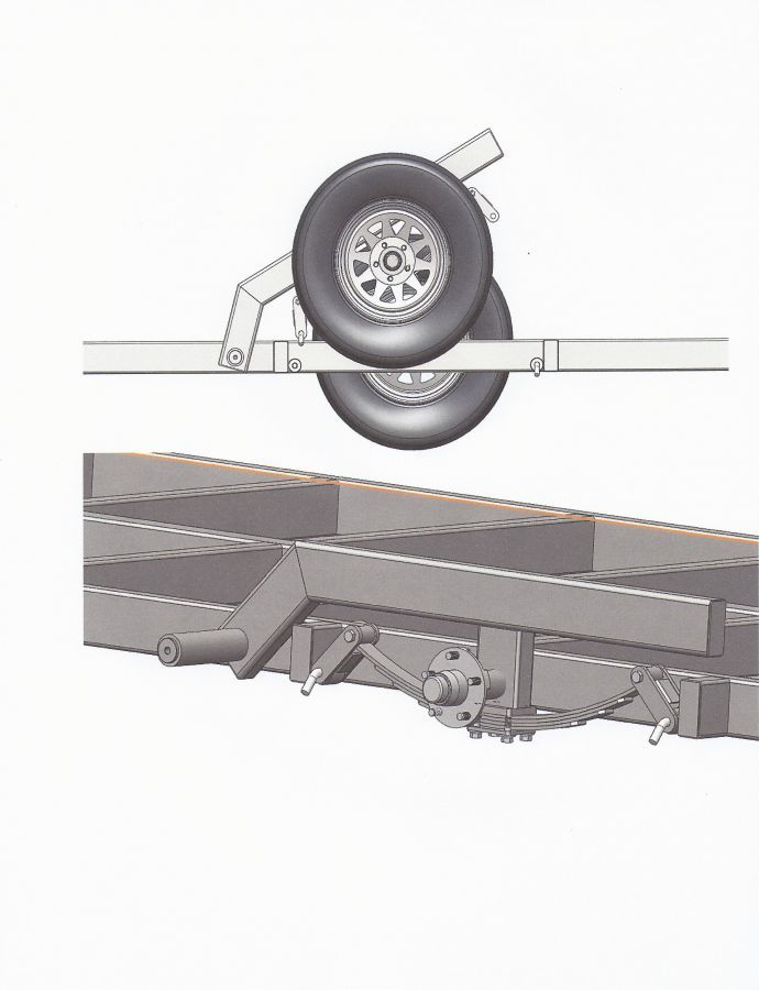 1000 ideas about trailer axles on pinterest trailers for Crank down fish house frames