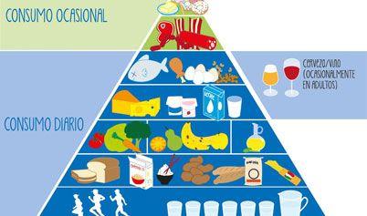 Que es la piramide alimenticia - Preguntas y Respuestas