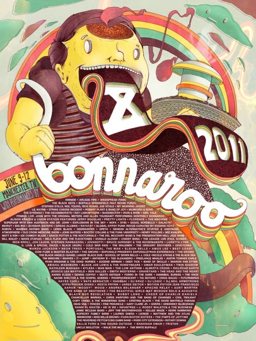Bonnaroo | illustration by pat perry