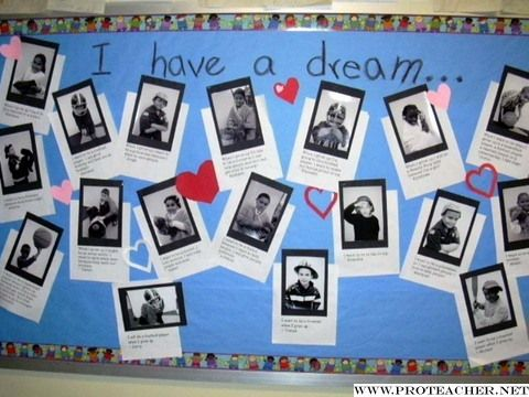 Celebrating Martin Luther King This idea came from Chris Smith . Have students dictate or write about what they want to be when they grow up...