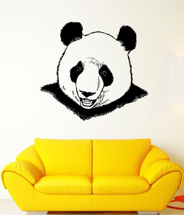 Wall Decal Animal Panda Bear Bamboo Cane China Mural Vinyl Decal Unique Gift (ed400)