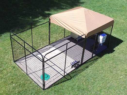 8' X 8' Ultimate Dog Kennel Heavy Duty pet enclosure system.