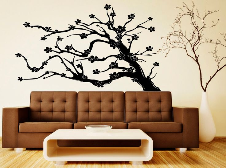 Tree Wall Decal Floral Patterns Interior Wall Vinyl Sticker Nature Art Design Murals (18tr2) by Rossstickers on Etsy https://www.etsy.com/listing/222610803/tree-wall-decal-floral-patterns-interior