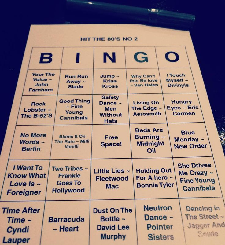 And I just wanted to grab a quick dinner... #bingo #80s
