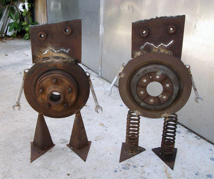 Yard art ideas from junk miller welding projects idea gallery rotorbots for my goobies - Simple metal art projects ...