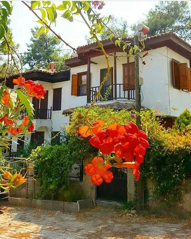 Geleneksel Akyaka evleri Muğla