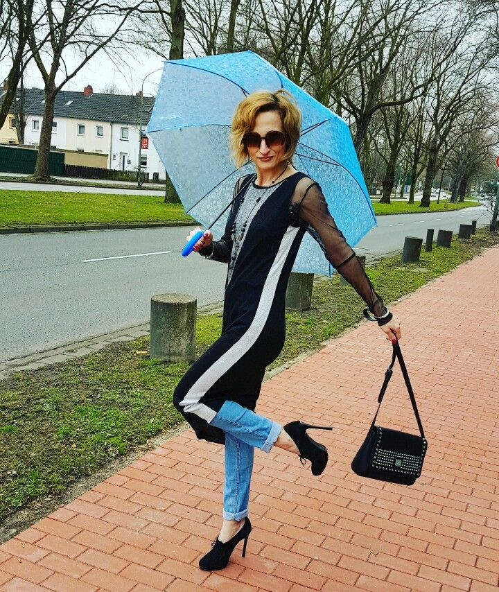 Wearing Liu Jo and some rain