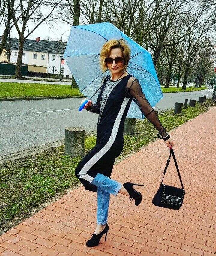 Wearing Liu Jo and some rain