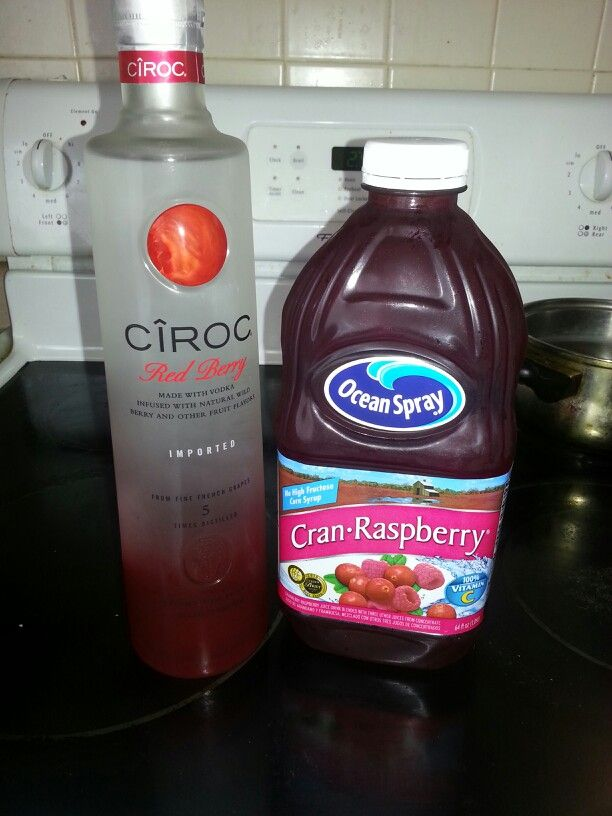 red berry ciroc and cranberry probably the best mixed