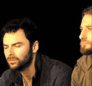 "(gif) Aidan?  What's with the face?? haha ~ His response to ""Who is the biggest prankster?"""