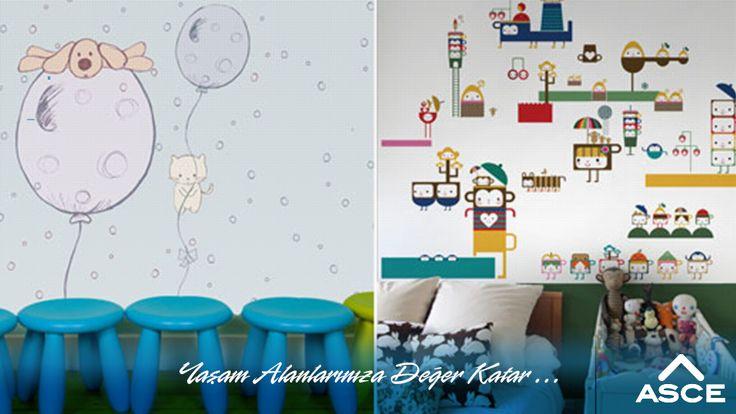 Sizde çocuklarınızın odasını duvar kağıtları ile daha renkli ve sevimli bir hale getirmek istemez misiniz? #dekorasyonfikirleri