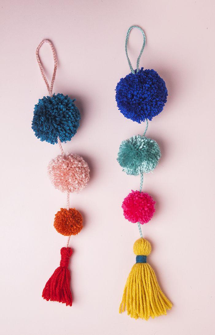 Summer Pom Pom Door Swag / Des pompons pour la poignée de porte